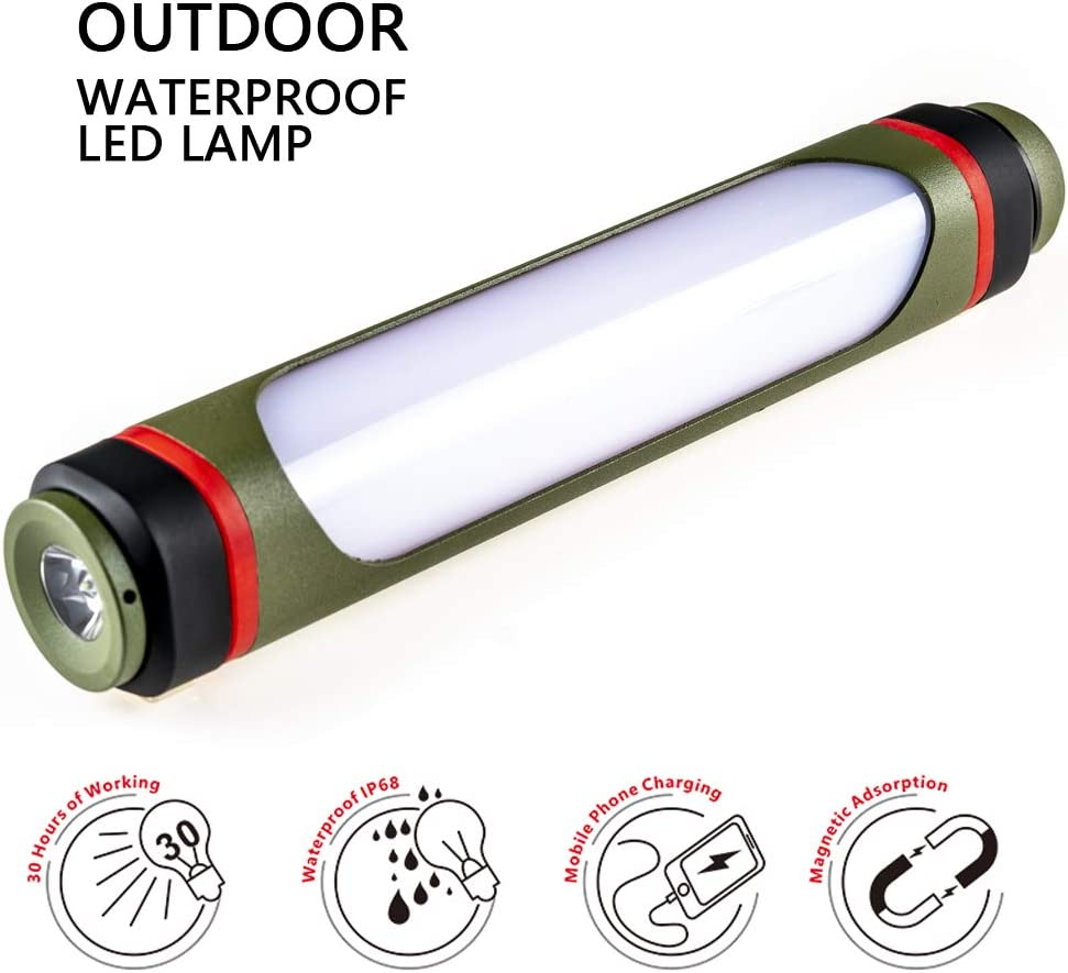 Multi-Function Camping Lantern,USB Rechargeable Camping Light,Portable Power Bank and Flashlight,Emergency Mosquito Repellent Lamps Outdoor SOS Warning Waterproof IP68
