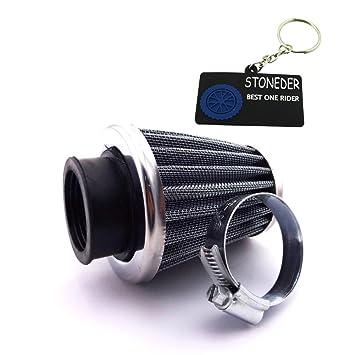 stoneder 35 mm de acero filtro de aire limpiador para 50 cc 70 cc 90 cc