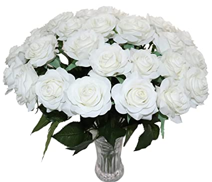 Amazon Kismeet Artificial Roses Fake Silk Flowers Real Touch
