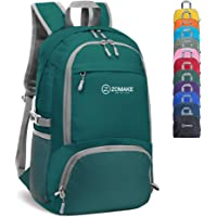 ZOMAKE 30L Lightweight Packable Backpack Water Resistant Hiking Daypack,Small Travel Backpack Foldable Camping Outdoor Bag Amry Green