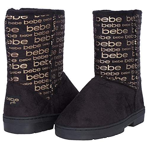 Bebe Toddler Girls Winter Boots with Metallic Bebe