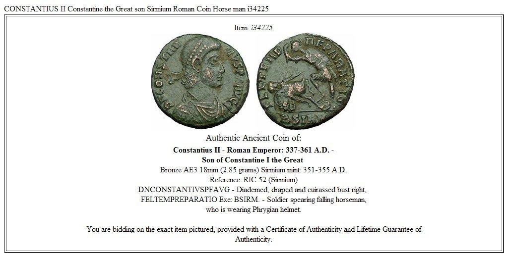Amazon.com: Constancio II Constantino la Gran hijo sirmium ...