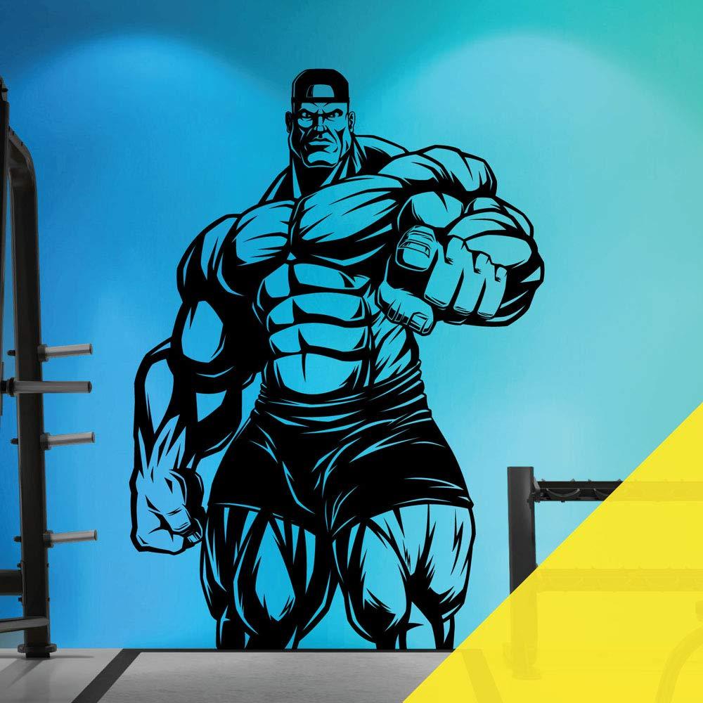 Citron grand (580 x 810mm) Sticker Mural pour Salle de Gym, Fitness, Musculation, Musculation, Silhouette athlétique Xgrand (850 x 1200mm) Argenté