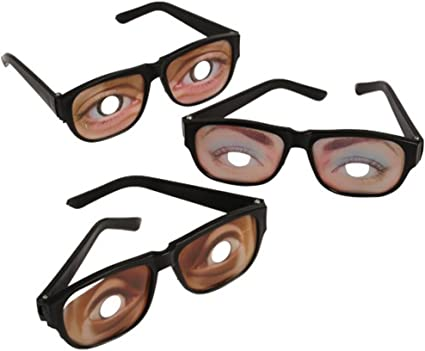 Halloween Funny Glasses Costume Eyes Disguise Joke Party Accessories Gift Toy