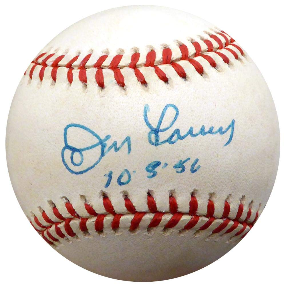 Don Larsen Autographed Official AL Baseball New York Yankees'10.8.1956' #G68861 - JSA Certified - Autographed Baseballs Mill Creek Sports
