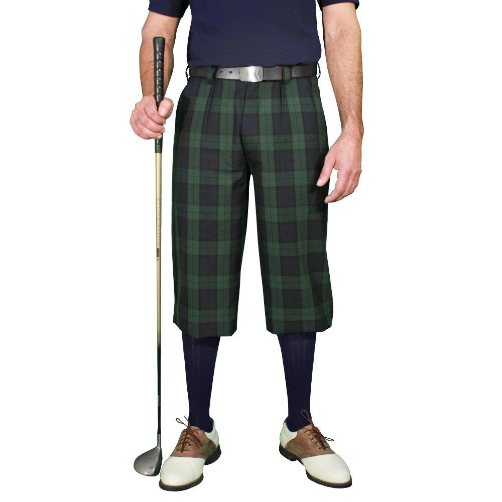 Plaid Golf Knickers: Mens 'Par 5' - Black Watch - 52''