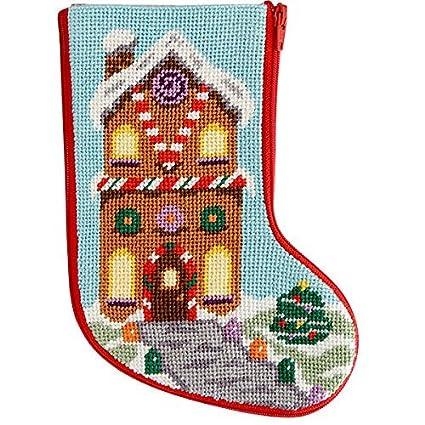 Needlepoint Christmas Stocking Kits.Stitch Zip Gingerbread House Mini Stocking Needlepoint Kit