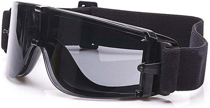 EnzoDate Balística X800 ejército Gafas de Seguridad 3 Kit de Lentes Gafas de Sol Militares visión Nocturna anit-UV Combate Guerra Juego Eyeshields con Estuche