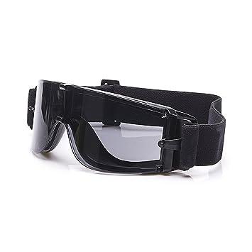 Balística X800 ejército gafas de seguridad 3 kit de lentes gafas de sol militares visión nocturna anit-UV combate guerra juego Eyeshields con estuche ...