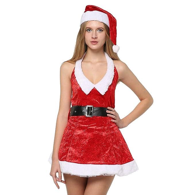 Amazon.com: EraSpooky - Disfraz de Navidad para mujer: Clothing