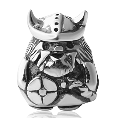 c62dcb951 Amazon.com: Viking Warrior Charms Authentic 925 Sterling Silver Bead Fits  Europen Style Bracelets (Viking Warrior-2): Jewelry