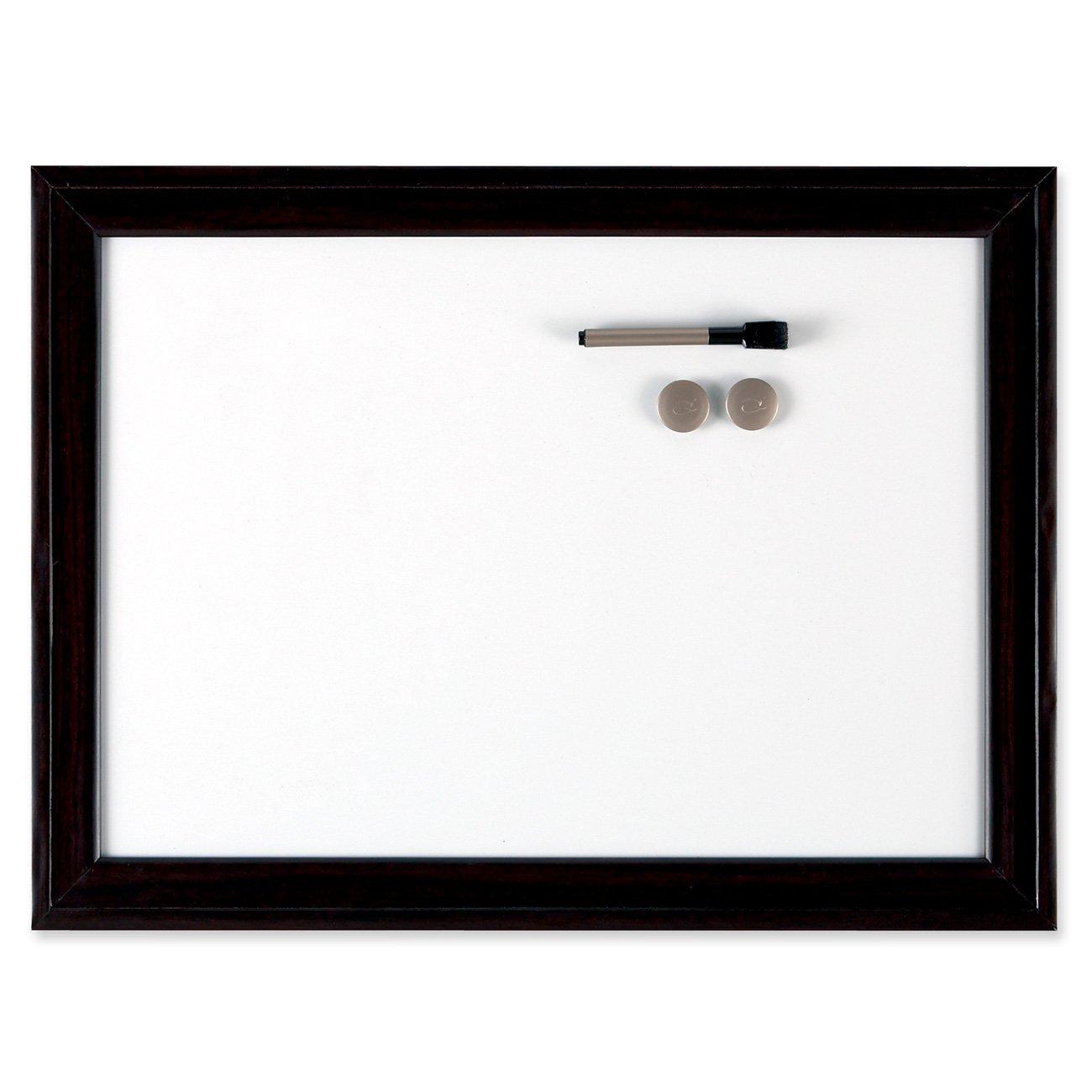 Quartet Espresso Home Decor Magnetic Dry-Erase Board, Wood Frame, 11 x 17 Inches (HDW1117B)