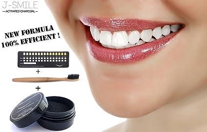 J-SMILE / blanqueamiento dental-polvo de carbón activado de coco/para blanqueamiento de los dientes/kit ...