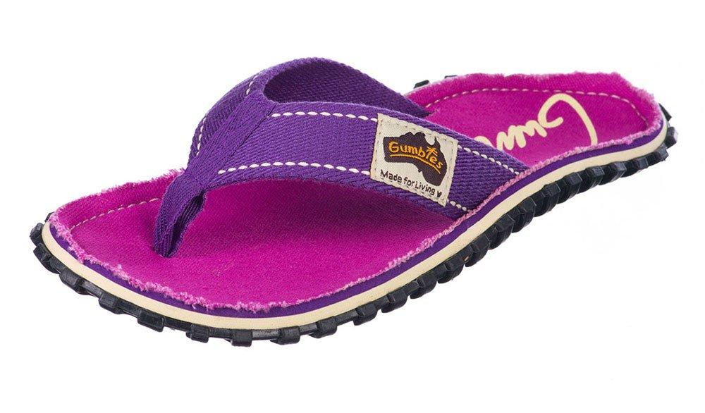 Gumbies Damen Zehentrenner - Rosa/Blau Schuhe in Uuml;bergrouml;szlig;en  42 EU|Purple Signed