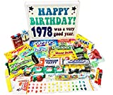 Woodstock Candy 1978 40th Birthday Gift Box – Retro Nostalgic Candy Assortment for 40 Year Old Man or Woman – Relive Your Childhood
