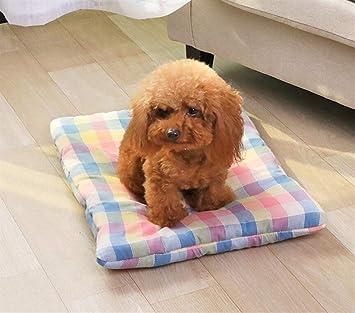 Xinjiener Cojín para Mascotas Cojín para Mascotas Cama para Perro Cama para Dormir Suave y cálida (Rosa y Azul): Amazon.es: Productos para mascotas