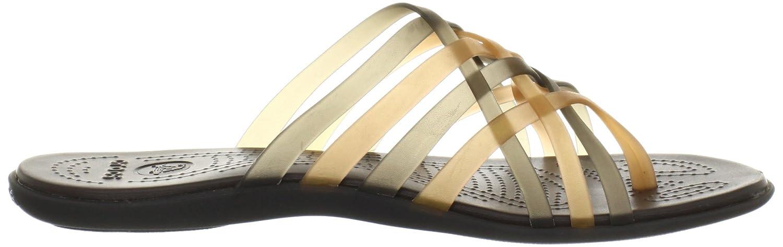 crocs Huarache Flip-flop Women, Damen Zehentrenner, Gold (Bronze/Espresso), 36/37 EU