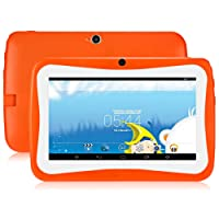 GBlife Niños Tablet, tableta de 7.0 pulgadas con estuche de silicona, Android 4.4 Quad Core 1.2 GHz, ROM de 1GB RAM + 16GB, cámaras de 0.3MP, WIFI, Bluetooth