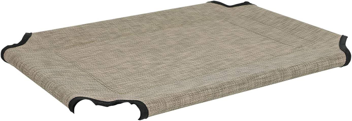 Veehoo Cooling Elevated Dog Bed Replacement Cover Washable /& Breathable Pet Cot Bed Mat Small Beige Coffee
