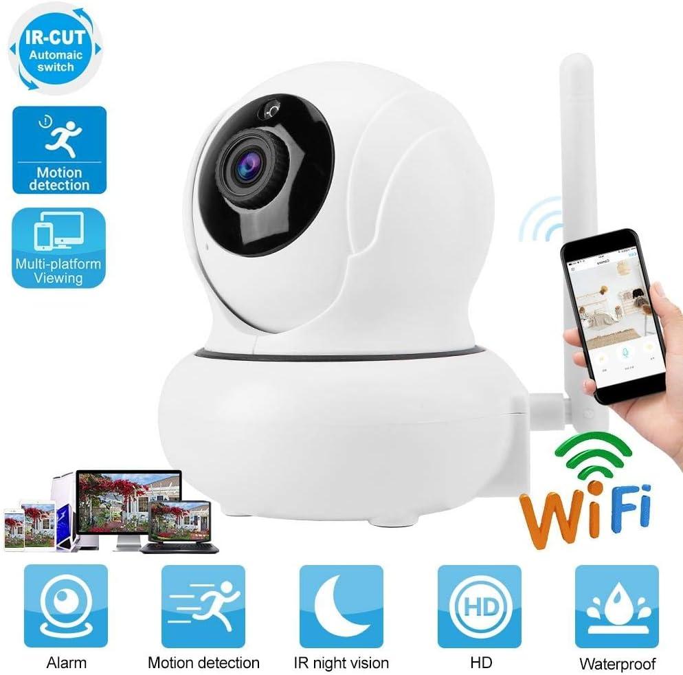Tosuny PTZ WiFi C/ámara de Vigilancia 1080P Zoom Digital 4X Visi/ón Nocturna de 10m Detecci/ón de Movimiento Audio Bidireccional P2P Camara de Seguridad con IR-Cut Enchufe UE