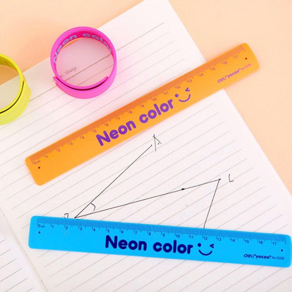 TOYMYTOY Rubber Bracelet Ruler Colorati Slap Braccialetti Novit/à Wristband Toy per Festa e Festival