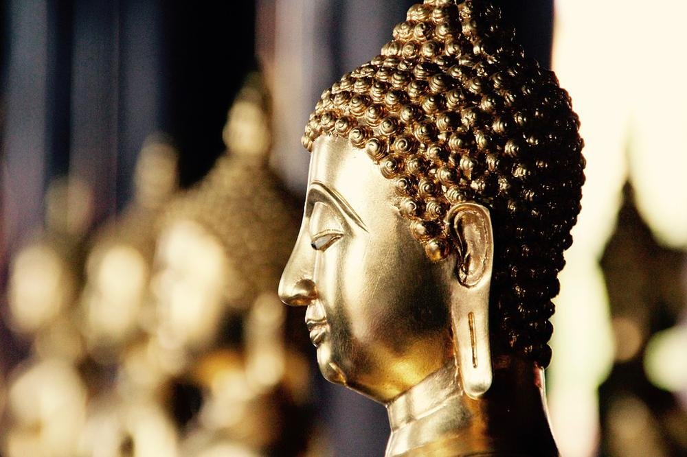 Gifts Delight LAMINATED 36x24 inches POSTER: Bangkok Buddha Gold Meditation Buddhism Thailand Asia Temple Southeast Wat Thai Buddha Old Religion Figure Buddhist Palace Altar Statue Shrine Faith by Gifts Delight