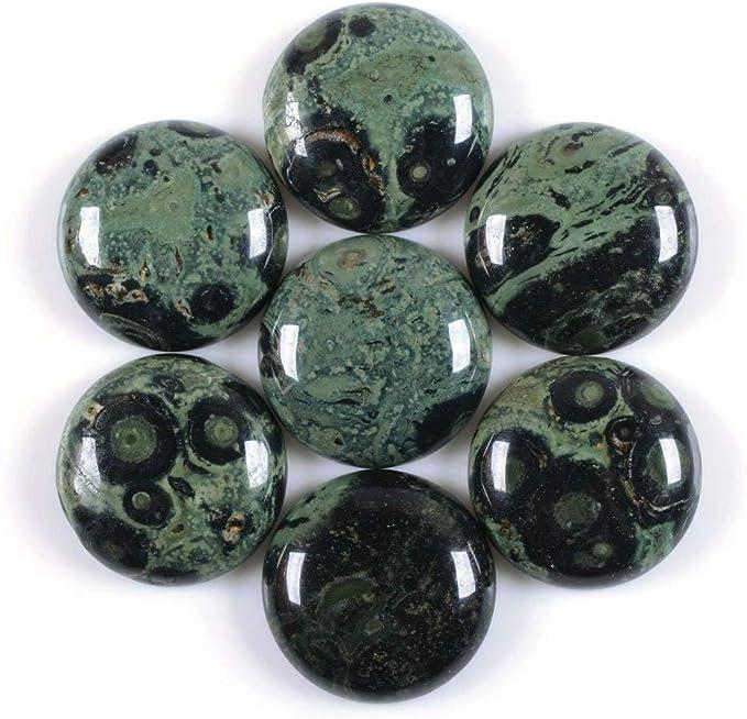 ONE 40x30 40mm x 30mm Green Gray Jasper Cab Cabochon Gem Stone Gemstone CM123