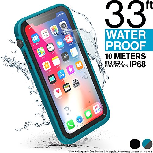 Catalyst iPhone X Waterproof Case, Shock Proof Premium Material Quality, Slim Design for Swimming, Beach Trips, Kayaking, Cruise Accessories with Lanyard (Teal) ONLY for iPhone - Case Medium Waterproof