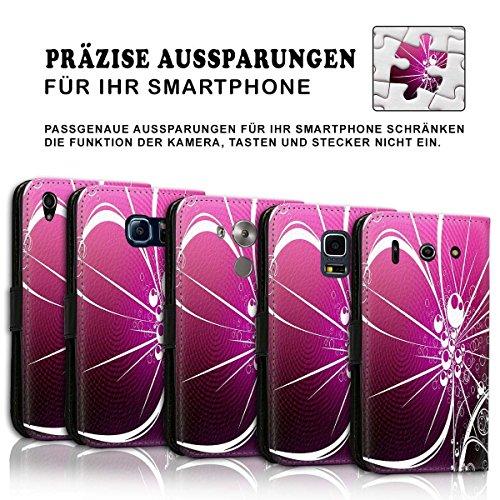 Wallet Book Style Flip Handy Tasche Case Schutz Hülle Schale Motiv Etui für Apple iPhone 6 / 6S - Design Flip MVD306