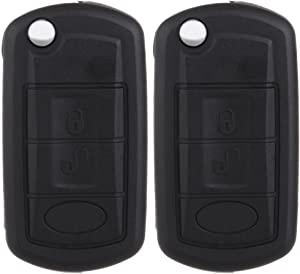 ECCPP Replacement fit for Uncut 315MHz Keyless Entry Remote Flip Key Fob Land Rover Discovery/ LR3/ Range Rover/Range Rover Sport (Pack of 2)