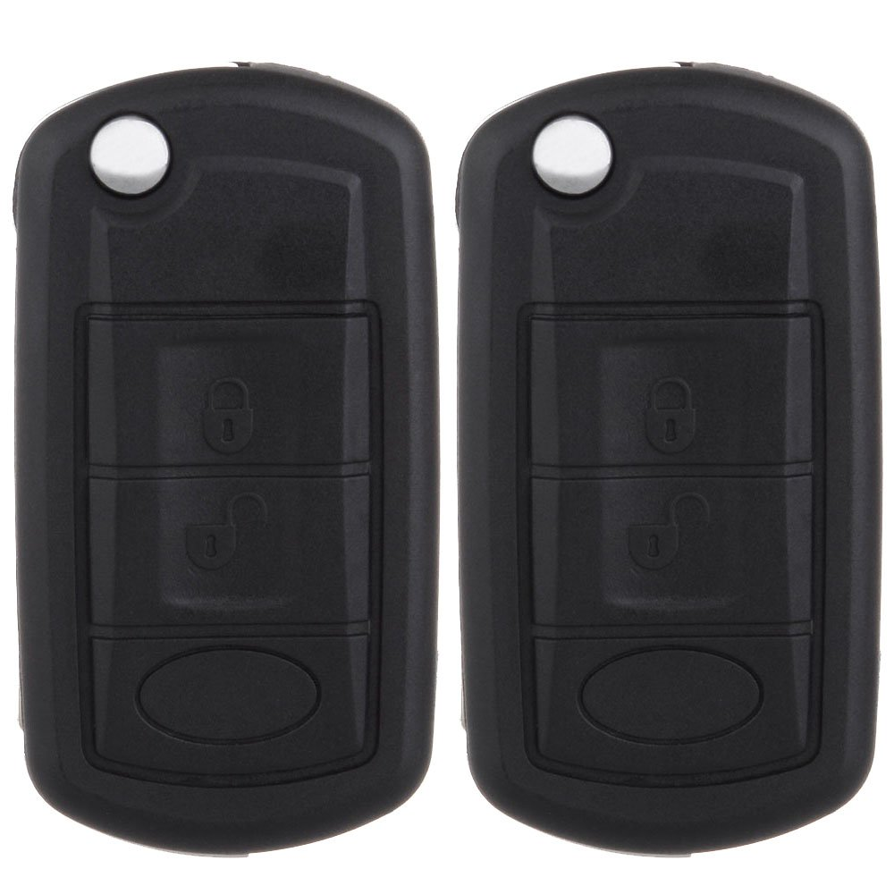cciyu Replacement Keyless Entry New Flip Remote Car Key Fob Clicker Transmitter Alarm 2 X 3 Buttons Replacement fit for Landrover Series 994995-5210-1134083851