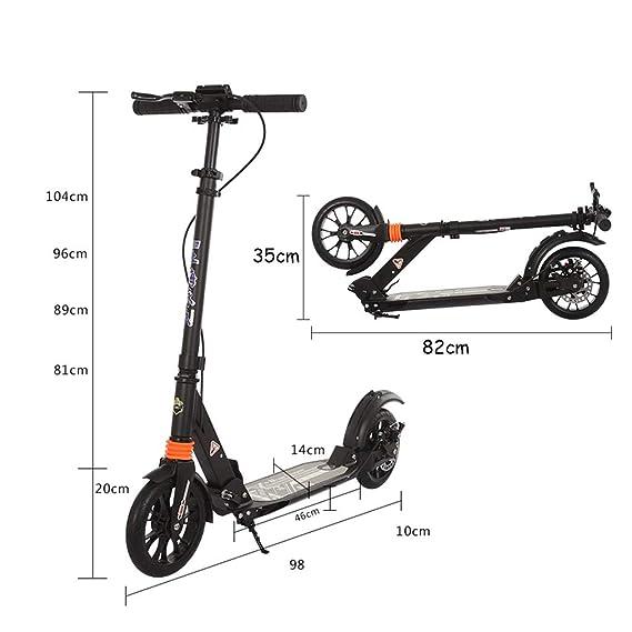 ZAQI Patinetes Kick Scooter Plegable 150 kg de Carga, Motos ...