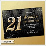 21st birthday party invitations male blue boy key design pack of 18th 21st 30th 40th 50th 60th birthday invitations personalised filmwisefo