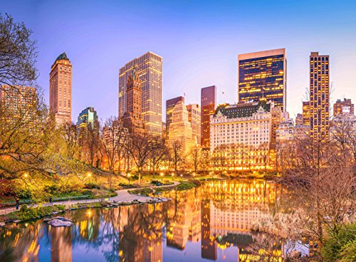 Adult Jigsaw Puzzle Central Park At Dusk New York City 500-Pieces
