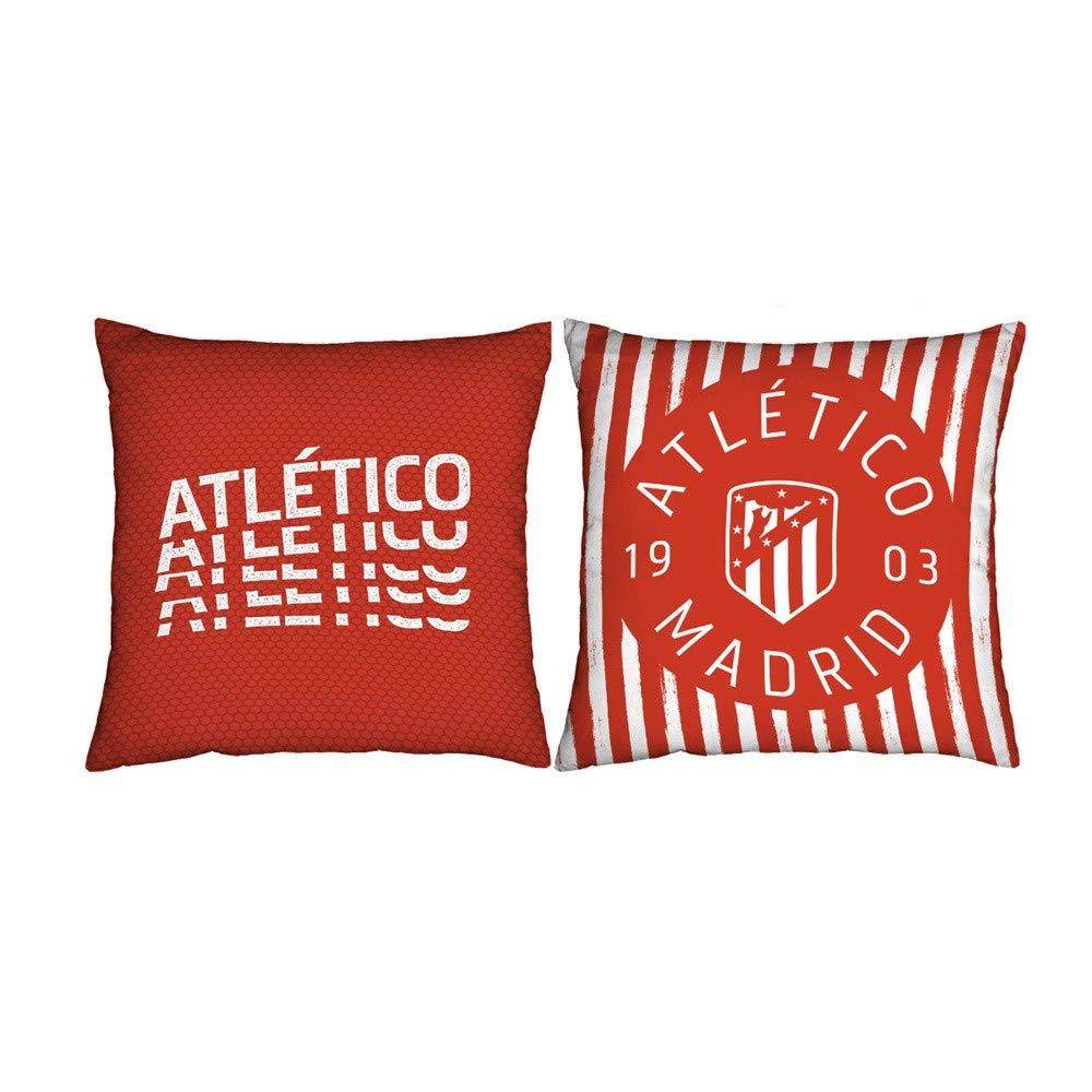 Atlético de Madrid. Cojines estampados de 50x50cm.con Licencia Oficial del Club. (Cojín 50x50 Indi 1)