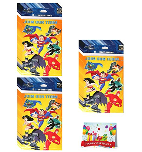 Justice League Birthday Party Invitations Bundle Pack of 24]()
