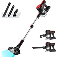 Advwin Vacuum Cleaner Cordless, Strong Suction 3 in 1 Powerful Filter Handheld Wireless Vacuum Cleaner with LED Light…