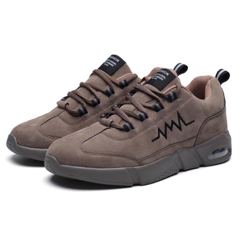 GAOLIXIA Hombres Gamuza Ocio Zapatos para correr Primavera Moda Air Cushion Zapatos deportivos Ligero Caminar Senderismo Zapatos de senderismo (Color : Brown, tamaño : 39) 39|Brown