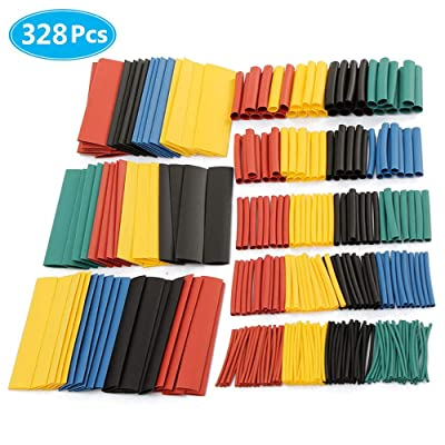 MCIGICM 328 pcs Heat Shrink Tubing 2:1, Waterproof Electrical Wire Cable Wrap Assortment Electric Insulation Heat Shrink Tube Kit (8 Sizes, 4 Color): Industrial & Scientific [5Bkhe0914836]