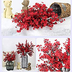 HOUTBY 10Pcs Baby Breath Artificial Flowers Gypsophila Fake Silk Flower Real Touch Flowers for Home Wedding Office Party Decoration DIY 7