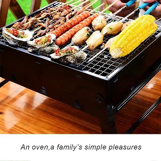 soges Barbacoa de carbón Liviana portátil Parrilla de Barbacoa Premium Plegable Parrilla pequeña para Fumadores para cocinar y Viajar al Aire Libre, ...