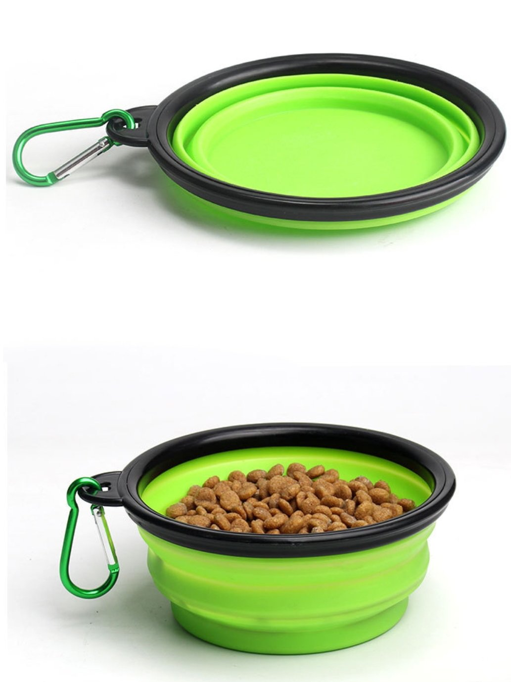 Collapsible Foldable Travel Dog Bowl for Feed and Water Pet Accessories - Set of 4
