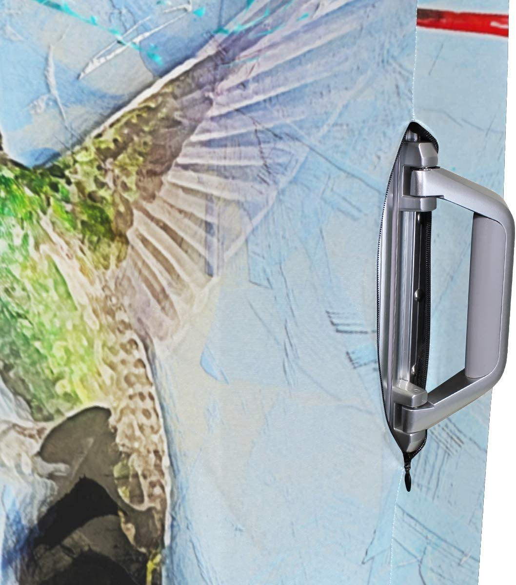 MALPLENA Bird Hummingbird Painting Luggage Protector Suitcase Cover