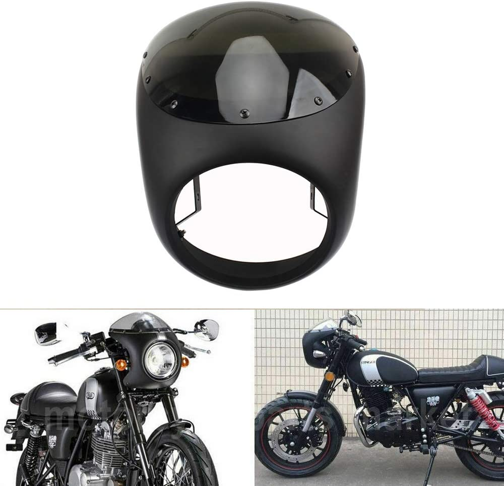 7 Inch Retro Motorcycle Headlight Fairing Kit Cafe Racer Screen Windshield For Touring Dyna Chopper Bobber CBR CBF Custom