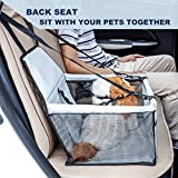 Cheap EcoBR Grey Pet Booster Dog Car Seat Cover Portable Breathable Bag Travel Front Back Clip-On Safety Leash and Zipper Storage Pocket for Small and Medium Pets up 11 lbs