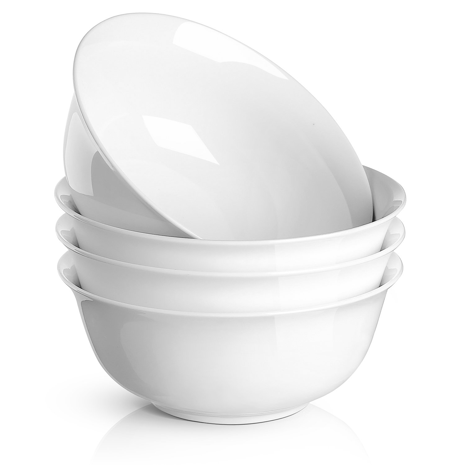 DOWAN 24 oz Porcelain Cereal/Soup Bowl , White - Set of 4