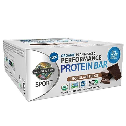 Garden of Life Organic Sport Protein Bar, Vegan, Chocolate Fudge, 12 Count
