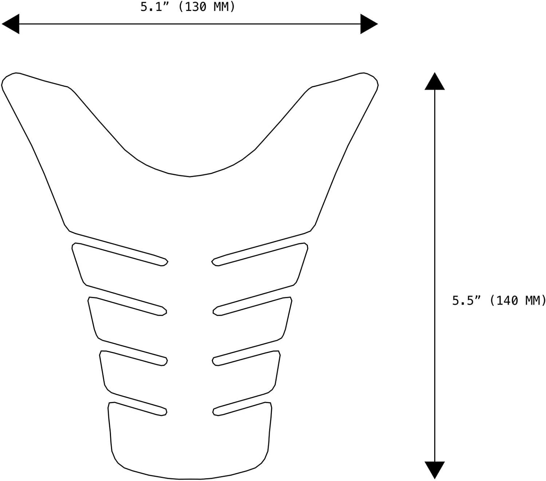 Orange NEX Performance Motorcycle Tank Pad Protector Universal