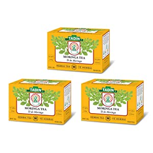Tadin Tea Moringa, Herbal Tea. Calming, Soothing & Caffeine-Free. 24 Bags. 1.02 Oz - Pack of 3