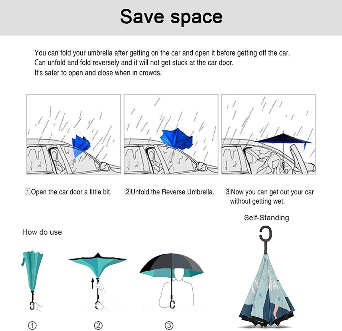 Tender Lovers In Bed Valentine Night Embrace Reverse Umbrella Double Layer Inverted Umbrellas For Car Rain Outdoor With C-Shaped Handle Personalized